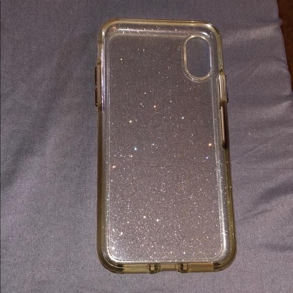 the best attitude 90e7f 5f5c7 iPhone X Otterbox clear glitter case.